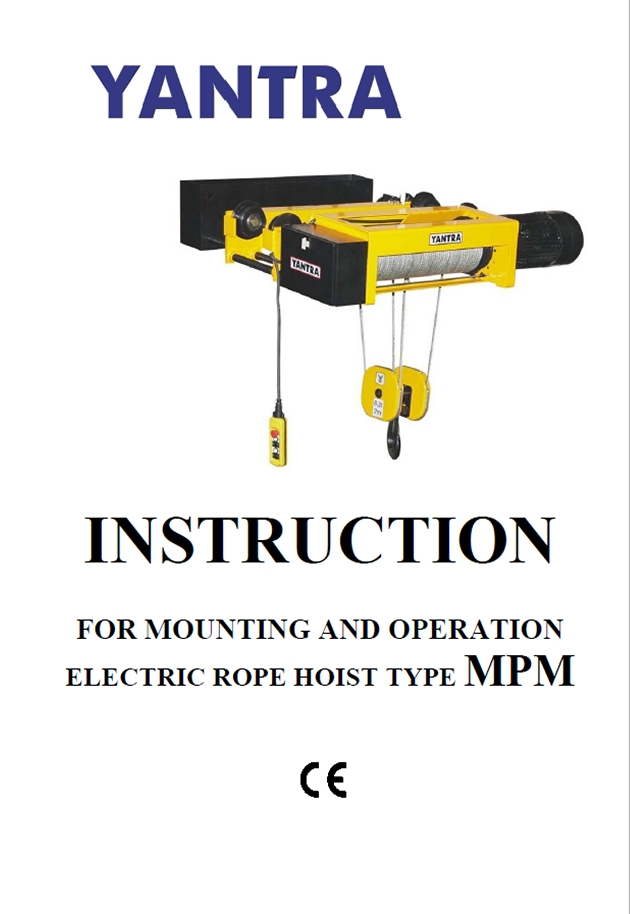 MPM - User's directions and general safety requirements